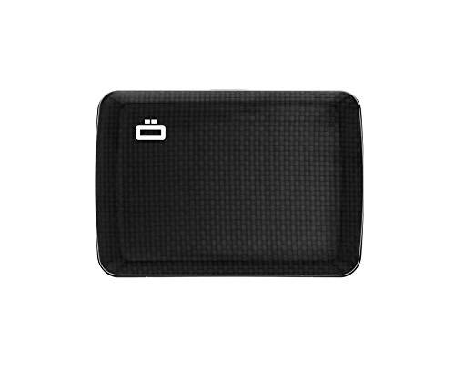 Ögon Smart Wallets - Stockholm V2 Cartera Tarjetero - Protección RFID: Protege Tus Tarjetas de Robar - hasta 10 Tarjetas + Recetas + Notas - Aluminio anodizado (Carbon)