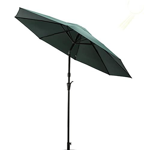 RINKMO 9Ft Outdoor Umbrella with Auto Tilt and Lift Crank,Patio Umbrellas with 8 Sturdy Ribs, Made of Aluminum, Table Market Umbrella,Deck Umbrella for Pool, Garden,Deck,Lawn,Backyard
