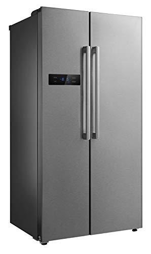 Frigorifero in acciaio inox con congelatore da 510 litri, semi, professionale, freezer in acciaio inox, classe di efficienza energetica A+