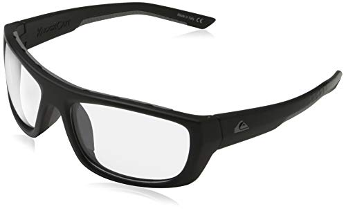 Quiksilver Knockout Adapt Gafas De Sol, Hombre, Black/Grey/Grey-Combo, 1Sz