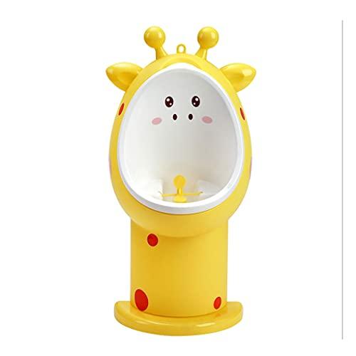 HONGFEISHANGMAO 포티 시트 TODDLERS GIRAFFE URINAL WALL-MOUNTED URINAL TRAINER CHILD BATHROOM URINAL TODDLER POTTY TRAINING (색채 : 노란색)