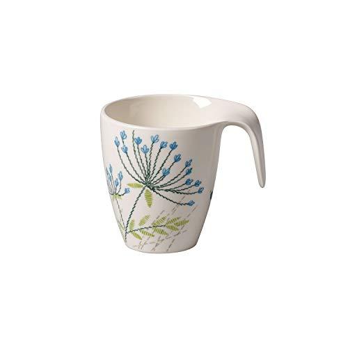 Villeroy & Boch Flow Couture Tasse, 340 ml, Premium Porzellan, Weiß/Bunt