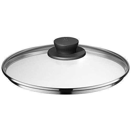 WMF Pfannen- Topfdeckel 24 cm, Glasdeckel mit Kunststoffknauf, Deckel für Töpfe & Pfannen, hitzebeständiges Glas, spülmaschinengeeignet