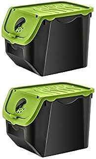DHGFH 12 litres Plastique Acrylique 1/2/4 Cuisine Boîte De Rangement Conteneur Pommes De Terre Oignons Bin Organisation Se...