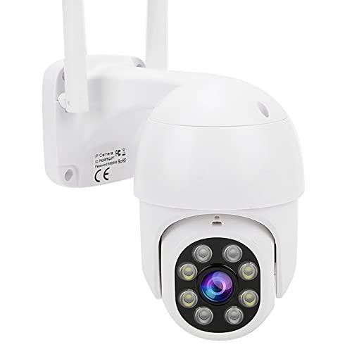 Cámara de monitoreo HD 1080P, excelente visión Nocturna WiFi Cámara de Seguridad infrarroja remota Detección de Movimiento Cámara de vigilancia con intercomunicador de Voz de 2 vías(UE 110-240 V)
