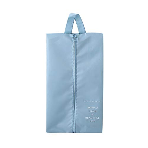 DIPOLA Reisverschluss Reißverschluss tragbare Einkaufstasche Einkaufstasche Wäsche Lagerung wasserdicht Neue Reise Faltbare Wasserdichte große Kapazität tragbare Schuh Aufbewahrungstasche