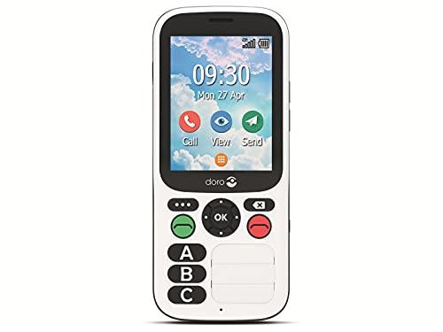 Doro 780X 4G GSM sehr einfache Bedienung mit nur DREI großen Direktwahltasten, Bluetooth, Notruftaste, GPS, Wi-Fi, IP54 wasserdicht, schwarz-weiß, 380474