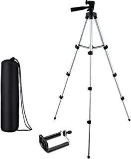 MOBICAFE Camera Tripod Stand with 3-Way Head Tripod for Digital Camera DV Camcorder, Tripod 3110 with Mobile Phone Holder ...