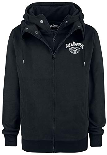 Jack Daniel's Double Hoodie Kapuzenjacke schwarz XL