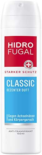 Hidrofugal, Classic Spray ml starker AntiTranspirant Schutz mit dezentem Duft Deo Spray für zuverlässigen Schutz ohne Ethylalkohol, frisch, 150 ml