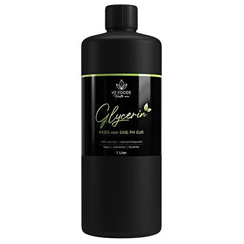 Glycerin flüssig 1000ml 1L absolut rein natürlich pflanzlich Glyzerin 99,5% DAB Qualität für DIY Desinfektion Cremes Kosmetika