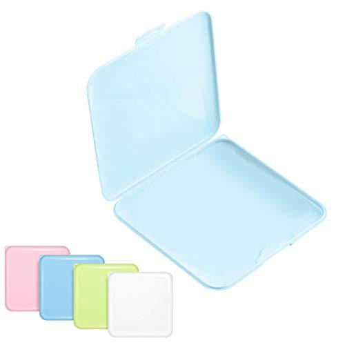 Sunshine smile Aufbewahrungsbox Tragbare, Flache Kunststoffbox Reinigungsbox, Aufbewahrungstasche, Speicherclips Organizer, Aufbewahrung Hülle Tragbare (Blau)