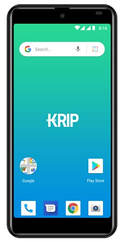 Unlocked Smartphone Android OS-10 Go Edition Mobile Phone KRIP K6b Screen 5.5 Memory 16GB+1GB Cell Phone Camera 13MP +8MP GSM -Dual Sim+Case Included. Black