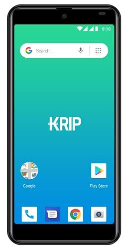 Smartphone desbloqueado Android OS-10 Go Edition teléfono móvil KRIP K6b pantalla 5.5 memoria 16GB+1GB teléfono celular cámara 13MP +8MP GSM -Dual Sim+funda incluida.Negro