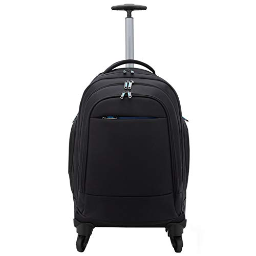 Adlereyire Laptop Trolley Bag Large-Capacity Stylish Lightweight Duffel Bag Convenient Rollers Waterproof Wear-Resistant Protection (Color : Black, Size : 352859cm)