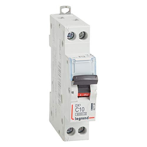 Interruptor automático magnetotérmico DX3, 6000,10KA, 1 polo+N, 10A (Legrand 407726)
