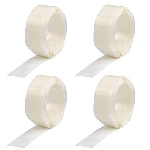 400 pezzi (4 rotoli) colla per palloncino bifacciale per punti adesivi per punti, per matrimoni, feste di compleanno, decorazione della casa