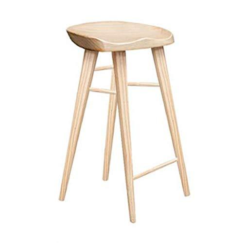 NAN liang Chaise de bar en bois massif à manger Chaises Accueil Style moderne Tabourets de bar Simple Casual Tabouret haut Chaises d'étude de réception, 3 couleurs, 3 tailles