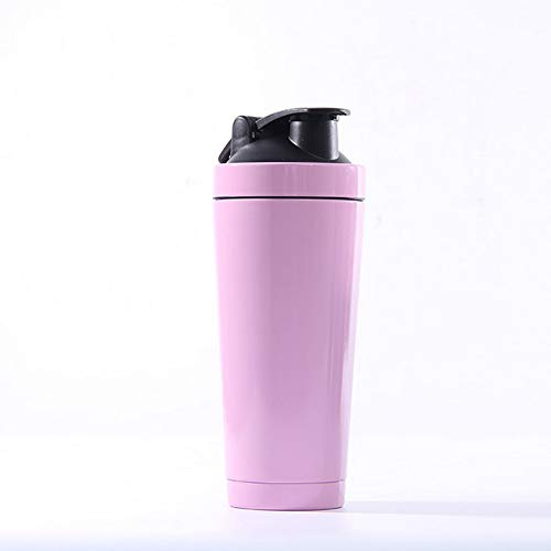AJINGE Protein Shaker Bottle26oz Double Laiers Stainless Steel Insulation Protein Shaker Cup with Blender BallBPA Free HandleLeak Proof LidPink