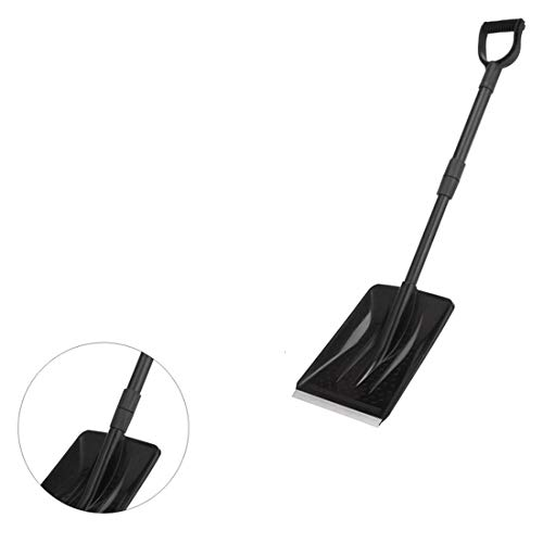 New 12 Snow Scoop Shovel with Steel Wide Shovel Head and Plastic Handle Lightweight and Extension 8...