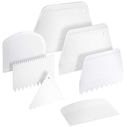 7 Pcs Cake Icing Scraper/ Smoother