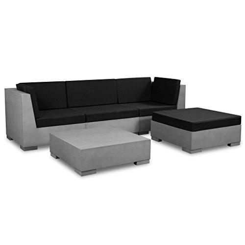 vidaXL 14-TLG. Gartensofa Set Beton Gartenmöbel Lounge Gartengarnitur Sitzgruppe