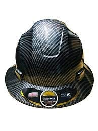 Fiberglass Hard Hat Black/silver (Cool Air Flow) with Fas-trac Suspension
