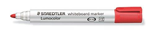 STAEDTLER LumoColor 351-2. Rotuladores para pizarra blanca. Paquete de 10 unidades de color rojo.