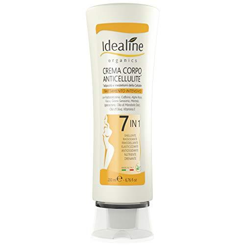 Crema Anticellulite Professionale 7in1 BIO Brucia Grassi Snellente e Rassodante Corpo 200ml Idealine