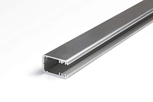 Rohes Aluminium Glaskantenprofil für 12mm LED-Streifen - Ural