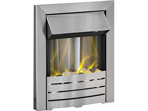 Designer Fire- Adam Helios Electric Fire in Brushed Steel