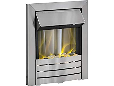 Designer Fire- Adam Helios Electric Fire in Brushed Steel