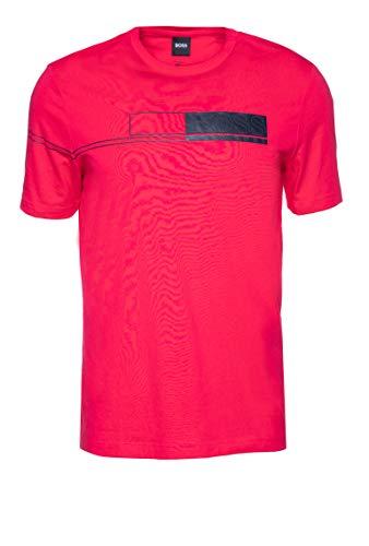 BOSS tee 1 Camiseta, Color Rosa 662, L para Hombre