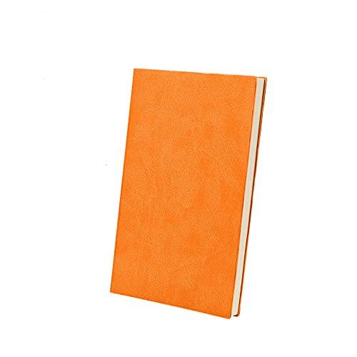FACHAI Bloc de notas A5 con cubierta de poliuretano, bloc de notas, bloc de notas, planificador semanal de alta calidad, papel de 15,5 x 21 cm, color naranja