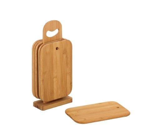 Zeller Brettchenständer, 7-teilig, Bamboo / 15 x 7 x 32