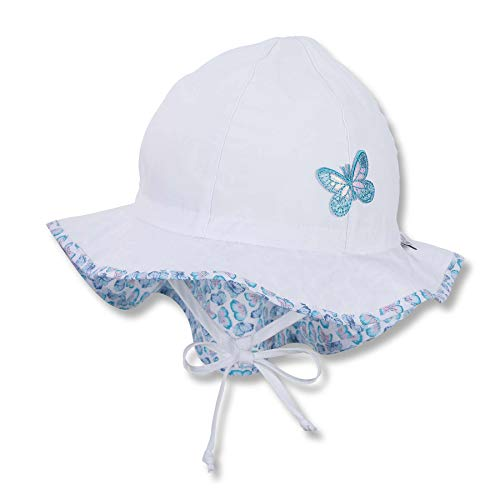Sterntaler Baby-Mädchen Flapper 1412110 Hut, Weiß, 51