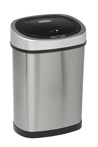 Nouveau 42 litres Autobin Fingerprint Proof, inox brossé argent acier laqué mat, déchets de cuisine automatique poubelle de poussière. Compteurs de taille idéale pour sous plan de travail et cuisine haut.