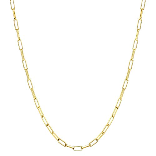 14K Gold Plated Paperclip Chain Gold Chain Necklace $9.49 (50% Off with code)