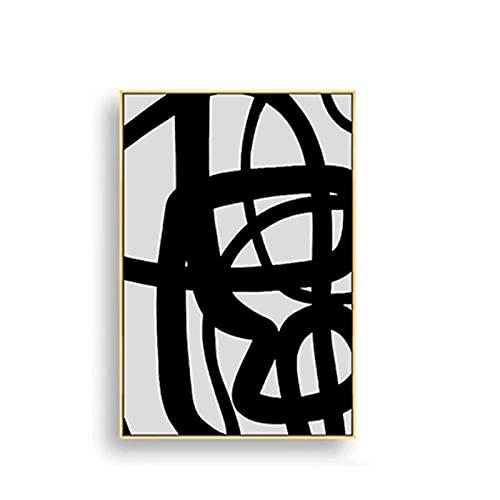 Línea de arte abstracto Terracota Colores Bloque Cabeza geométrica Salida del sol Lienzo Pintura Arte de la pared Póster Impresiones Dormitorio Sala de estar Estudio Oficina Decoración para
