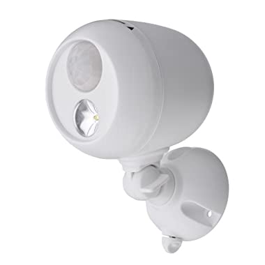 Mr. Beams MB330 Wireless LED Spotlight with Motion Sensor and Photocell, White