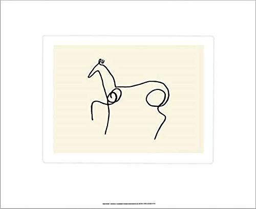 Kunstdruck/Poster: Pablo Picasso Das Pferd - hochwertiger Druck, Bild, Kunstposter, 60x50 cm