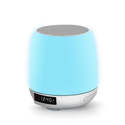 Energy Sistem Clock Speaker 3 Light Altavoz portátil con Bluetooth (Dual Alarm,...