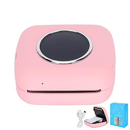 Mini Impresora, Mini Impresora Bluetooth Impresora de Ejercicios incorrectos para Estudiantes Dispositivos de impresión de fotografías Bluetooth para Estudiantes Impresión de fotografías de(Pink)