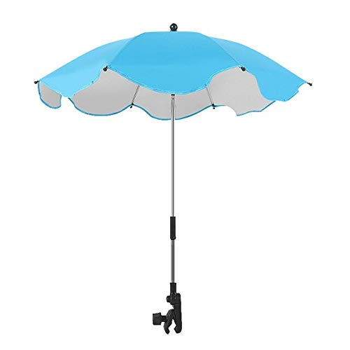 RJGOPL Bebê Sol Guarda-chuva Guarda-Sol Buggy carrinho de criança carrinho de criança acessórios ajustável crianças Guarda-chuva Sombra Dossel Capa Parasol China Azul