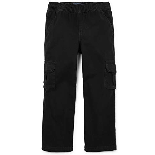 The Children's Place Big Boys' Pull on Cargo Pants, Black...