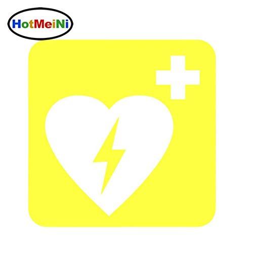 RJGOPL Autoaufkleber Defibrillator Medizinische Ausrüstung Erste Hilfe Auto Styling Auto Aufkleber Vinyl Aufkleber LKW Tür Stoßstange Kajak 15 * 15cmGelb