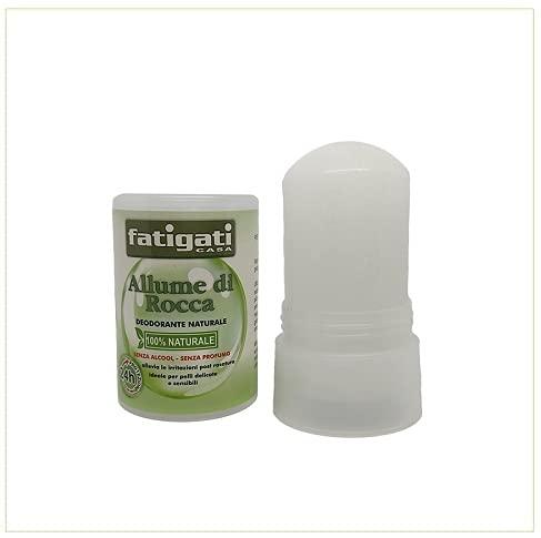 Allume di Rocca, deodorante 100% Naturale, deodorante Anti-Odore efficace per Pelli Sensibili – 120 gr – allevia le irritazioni post rasatura per pelli delicate e sensibili