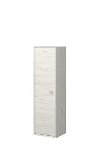 Preisvergleich Produktbild Germania 2327-247 Hängeschrank CALVI,  Pinie-Weiß-Nb. / Navarra-Eiche-Nb.,  35 x 40 x 140 cm