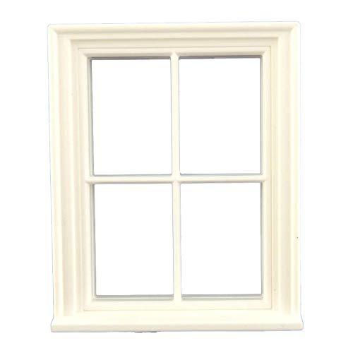 Melody Jane Puppenhaus Handwerker 1:24 Maßstab Klassisch Weiß Kunststoff Georgischer 4 Fenster