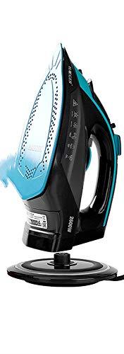 LLDKA Plancha de Vapor, Vapor Wireless Central Que Tiene portátil automática, para la Tela del Textil y del Vestido Vapor House Travel,Azul